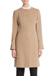 Lafayette 148 New York Roland Wool Seamed Coat