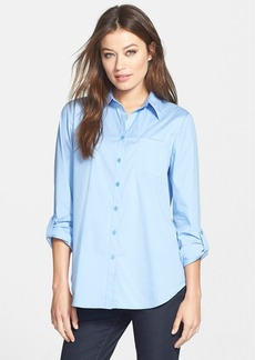 Lafayette 148 New York Roll Tab Sleeve Blouse (Regular & Petite)