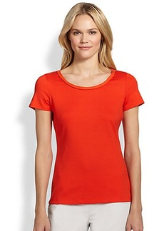 Lafayette 148 New York Rolled-Neck Short-Sleeve Tee