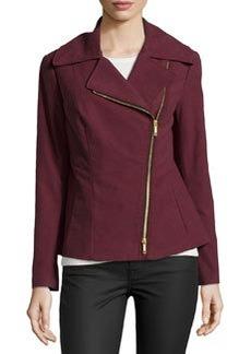Lafayette 148 New York Rosario Soft-Woven Asymmetric Jacket, Beet
