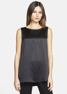 Lafayette 148 New York 'Rosie' Sleeveless Silk Charmeuse Blouse