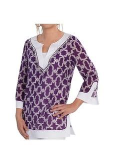 Lafayette 148 New York Rubina Tunic Shirt - 3/4 Sleeve (For Women)