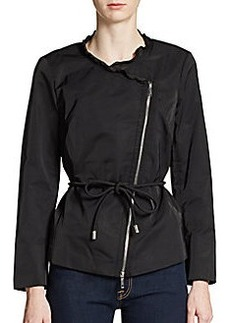 Lafayette 148 New York Ruffle Collar Tie-Waist Jacket