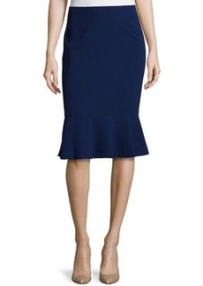 Lafayette 148 New York Ruffled-Hem Wool Skirt