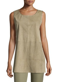 Lafayette 148 New York Ryder Sleeveless Suede Blouse  Ryder Sleeveless Suede Blouse