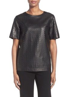 Lafayette 148 New York 'Rylan' Perforated Leather Top