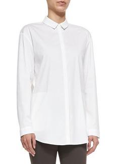 Lafayette 148 New York Sabira Cotton-Stretch Long-Sleeve Shirt