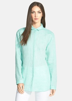 Lafayette 148 New York 'Sabira' Cross Dyed Linen Blouse