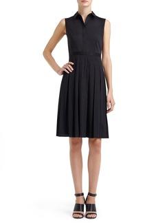 Lafayette 148 New York 'Sade' Sleeveless Laser Cut Fit & Flare Dress