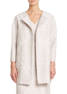 Lafayette 148 New York Sakura Jacquard Cotton & Silk Coat