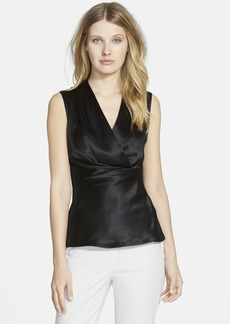 Lafayette 148 New York 'Sarabeth' Silk Front Sleeveless Blouse