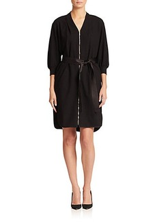 Lafayette 148 New York Saralyn Belted Zip-Front Dress