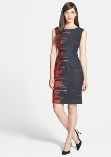 Lafayette 148 New York 'Savannah - Flame' Print Sheath Dress