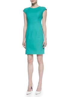 Lafayette 148 New York Savita Cap-Sleeve Sheath Dress