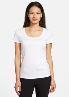 Lafayette 148 New York Scoop Neck Cotton Tee