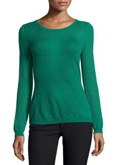 Lafayette 148 New York Scoop-Neck Long-Sleeve Sweater