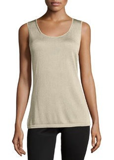 Lafayette 148 New York Scoop-Neck Sleeveless Shell, Champagne