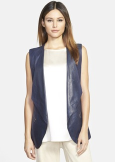 Lafayette 148 New York 'Scotty' Lambskin & Knit Vest
