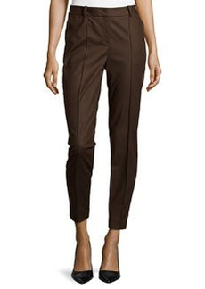 Lafayette 148 New York Seamed Pants with Back Slit, Espresso