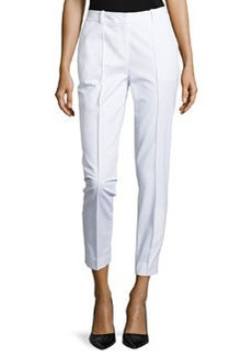 Lafayette 148 New York Seamed Pants with Back Slit, White