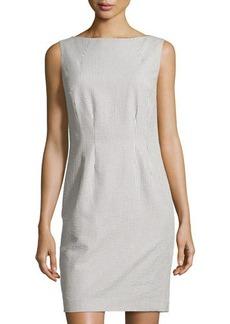 Lafayette 148 New York Seersucker Sleeveless Shift Dress