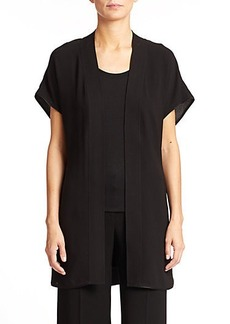 Lafayette 148 New York Self-Tie Long Silk Vest