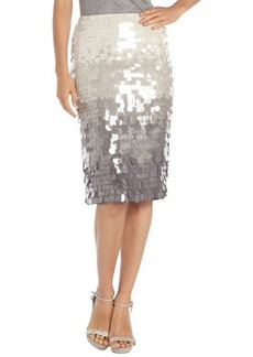Lafayette 148 New York shale dip dye silk paillette slim skirt