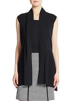 Lafayette 148 New York Shawl-Collar Cotton Vest