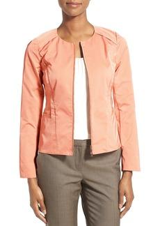 Lafayette 148 New York 'Shawna' Zip Front Jacket