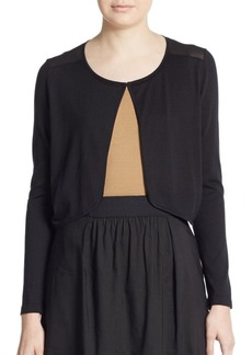 Lafayette 148 New York Sheer-Back Shrug