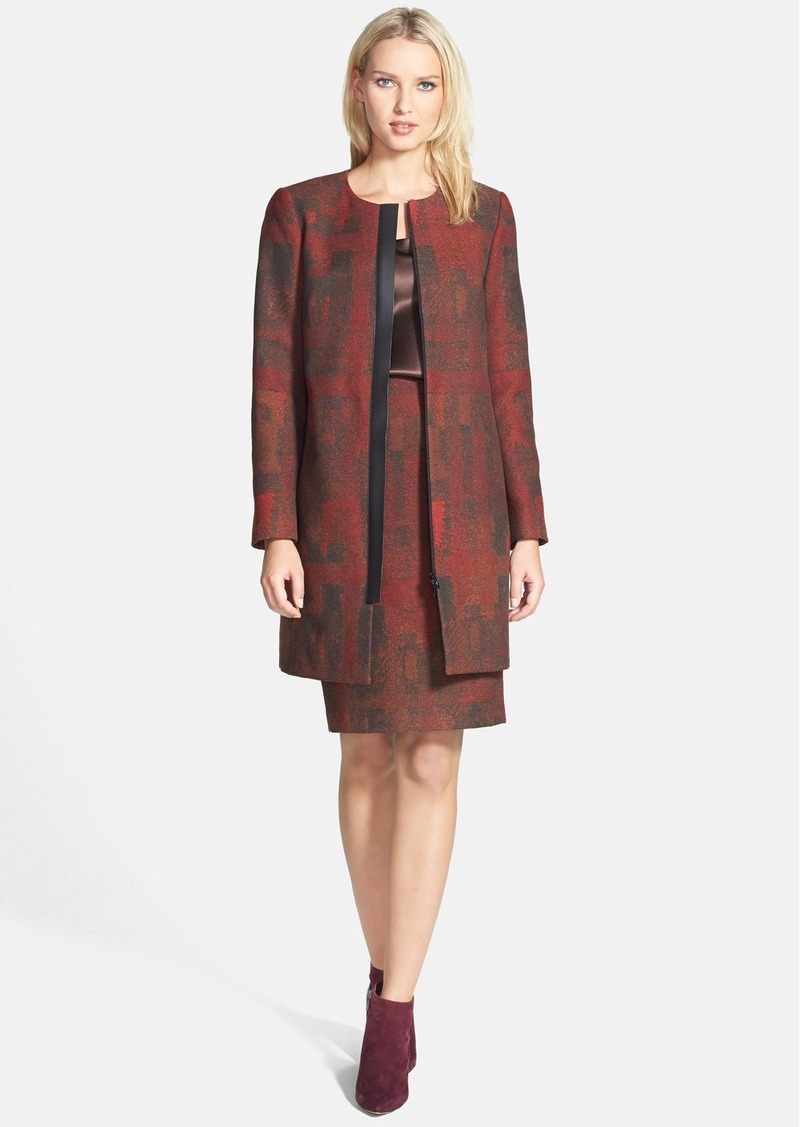 Lafayette 148 New York 'Shira - Metropolis Novelty' Coat (Regular & Petite)
