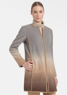 Lafayette 148 New York 'Shira' Ombré Wool Blend Coat