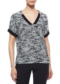 Lafayette 148 New York Short-Dolman-Sleeve Sweater