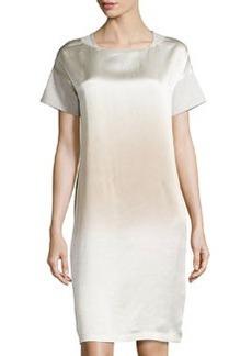 Lafayette 148 New York Short-Sleeve Combo Shift Dress, Opal