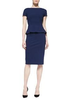 Lafayette 148 New York Short-Sleeve Peplum Dress