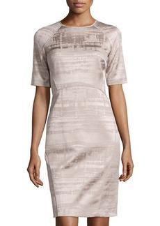 Lafayette 148 New York Short-Sleeve Sheath Dress