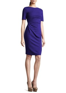 Lafayette 148 New York Short-Sleeve Side-Ruched Dress  Short-Sleeve Side-Ruched Dress