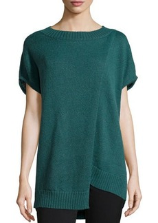 Lafayette 148 New York Short-Sleeve Wool-Blend Pullover Sweater