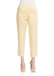Lafayette 148 New York Sid Cropped Stretch Cotton Trousers