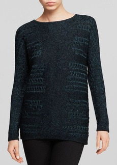 Lafayette 148 New York Side Cable Knit Sweater