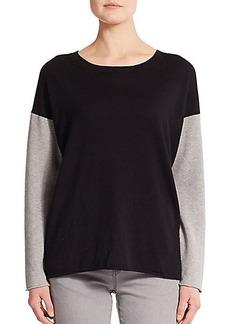 Lafayette 148 New York Side-Zip Cotton & Cashmere Sweater