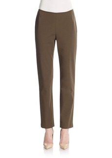 Lafayette 148 New York Side Zip Slim-Leg Pants