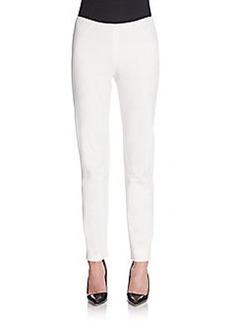 Lafayette 148 New York Side Zip Slim-Leg Pants