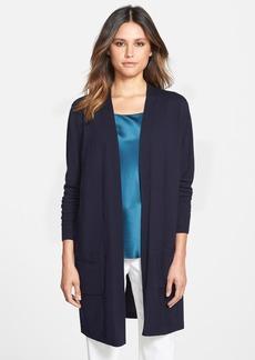 Lafayette 148 New York Silk & Wool Long Sleeve Cardigan