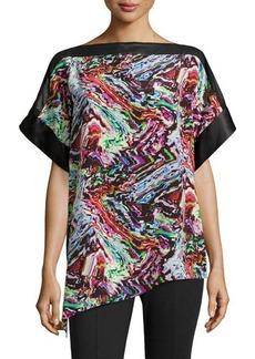 Lafayette 148 New York Silk Abstract-Print Tunic
