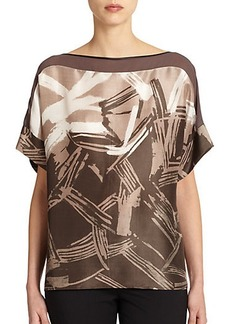 Lafayette 148 New York Silk Alonza Blouse