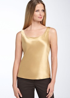Lafayette 148 New York Silk Charmeuse Tank (Regular & Petite)