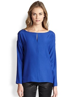 Lafayette 148 New York Silk Dolman-Sleeve Blouse
