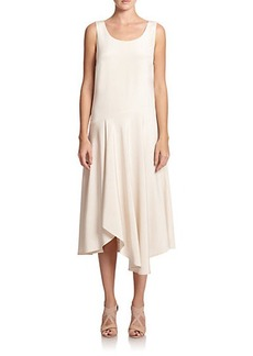 Lafayette 148 New York Silk Evalyn Asymmetrical Dress