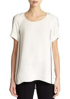 Lafayette 148 New York Silk Kate Blouse